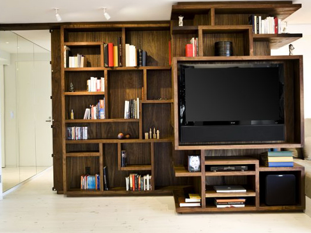 Wall Bookshelves Design