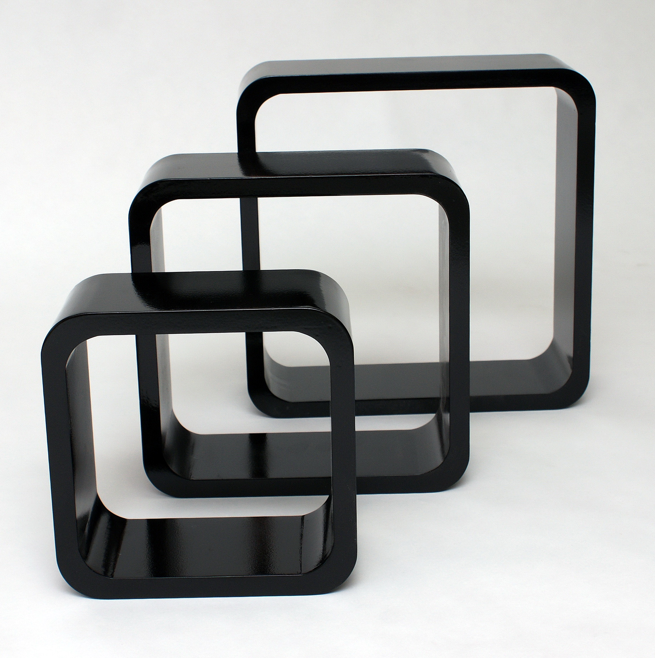 Wall Cube Shelves Black