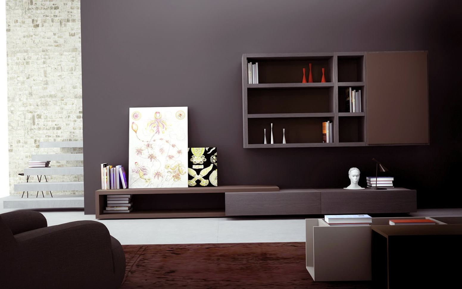 Wall Shelving Units For Living Room