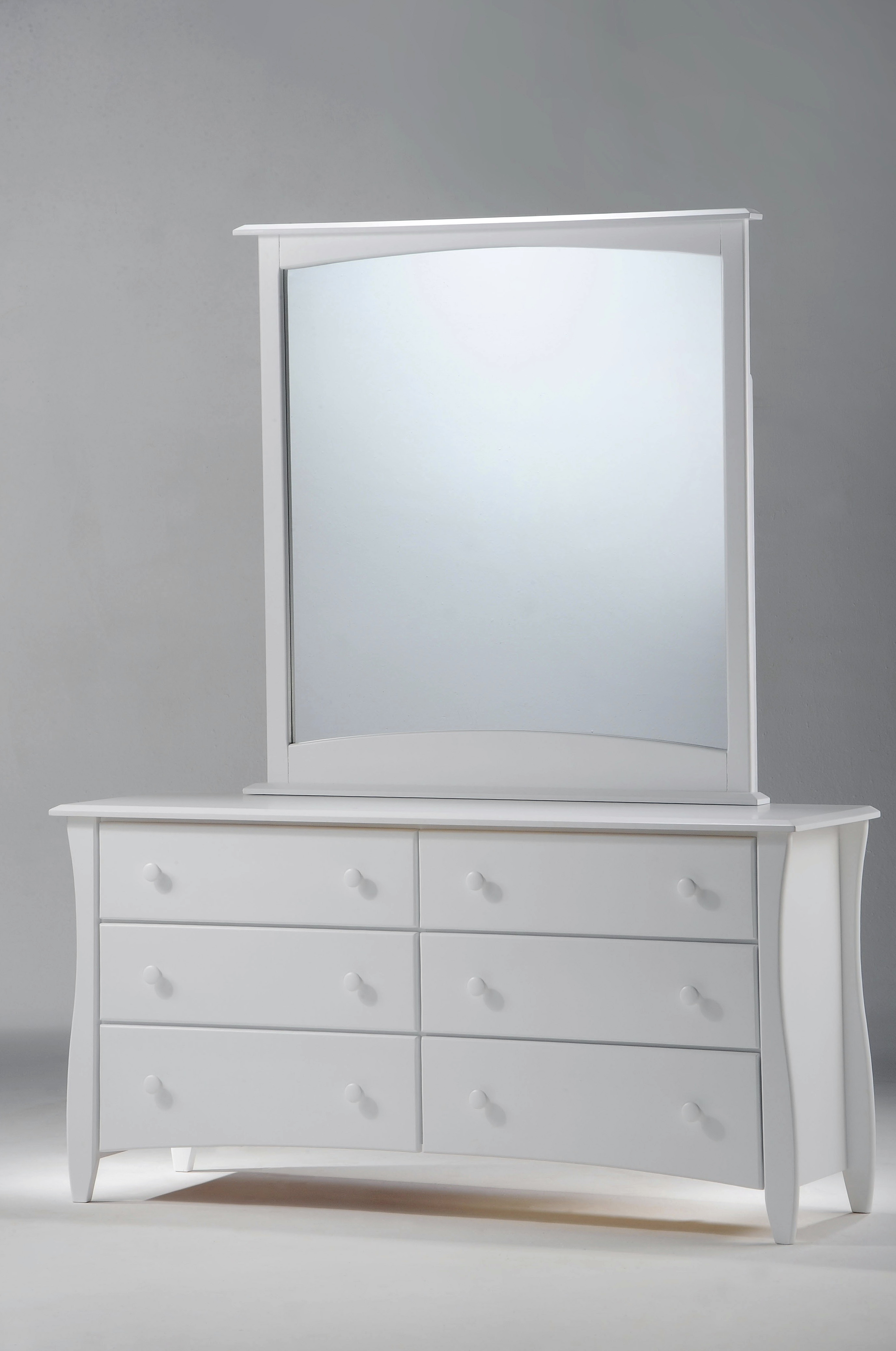 White 6 Drawer Dresser With Mirror