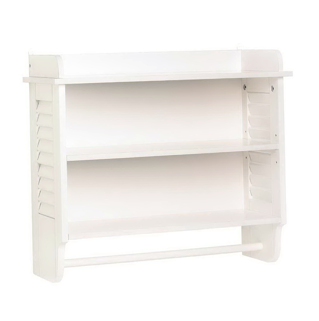 White Bathroom Wall Shelves