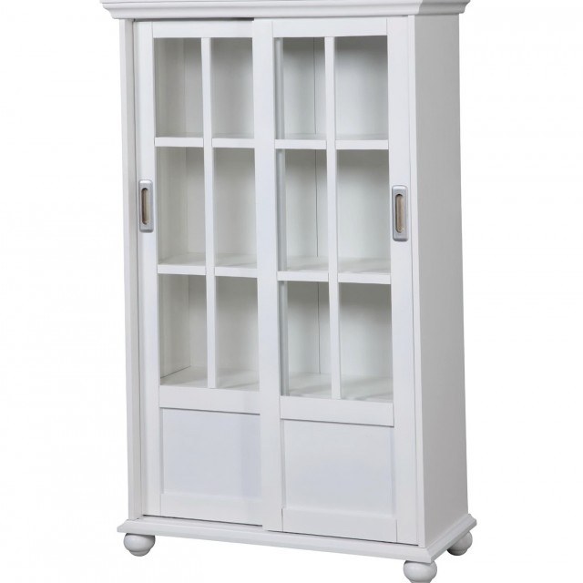 White Bookcase With Doors Ikea