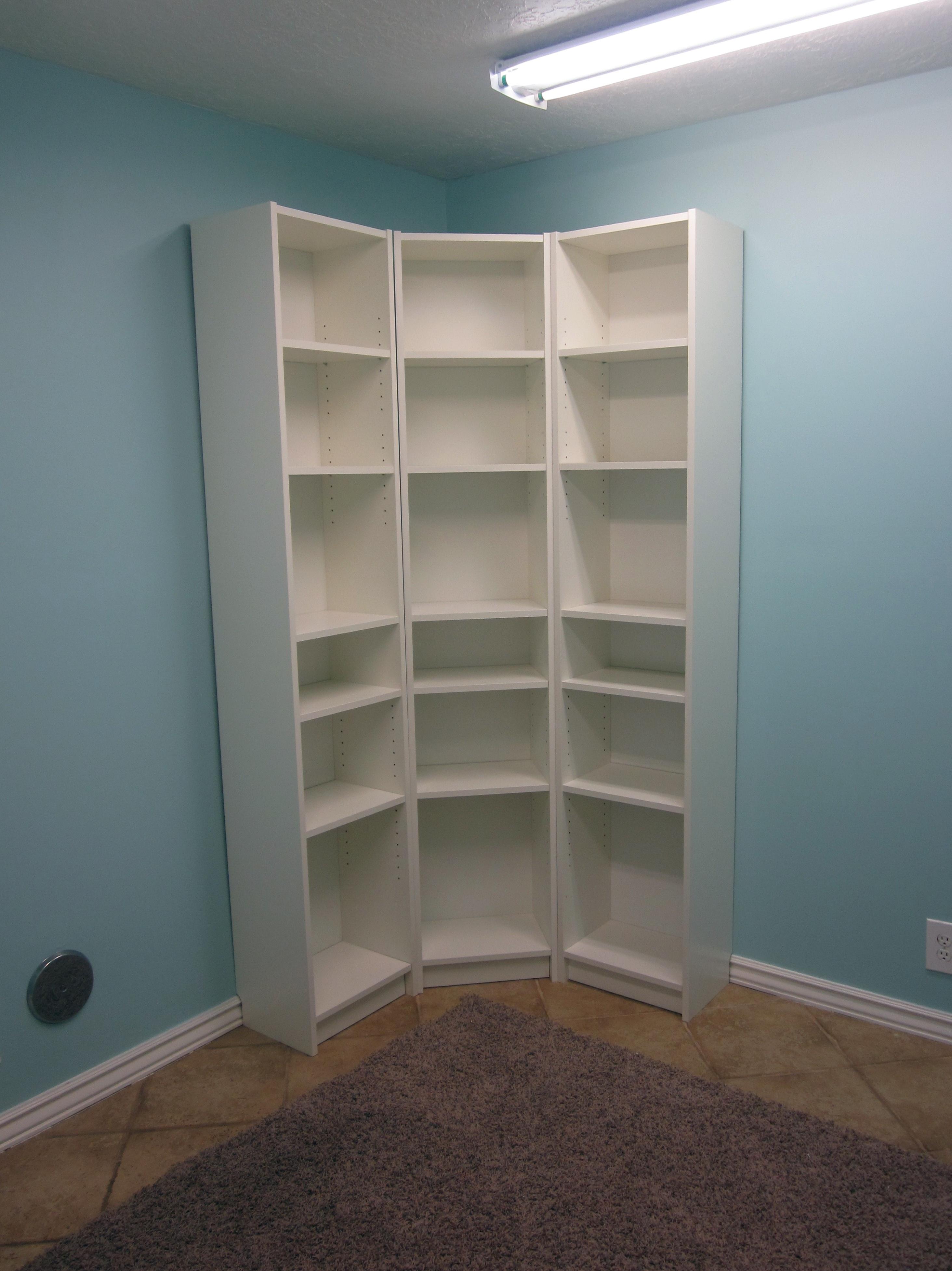 White Corner Bookcase Ikea