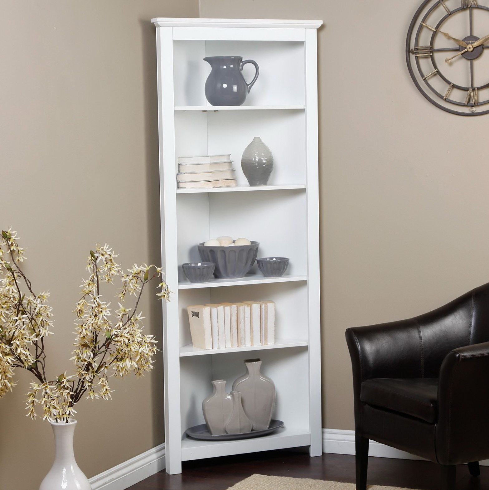 White Corner Bookcase Kids Bookcase 15913 Home Design Ideas