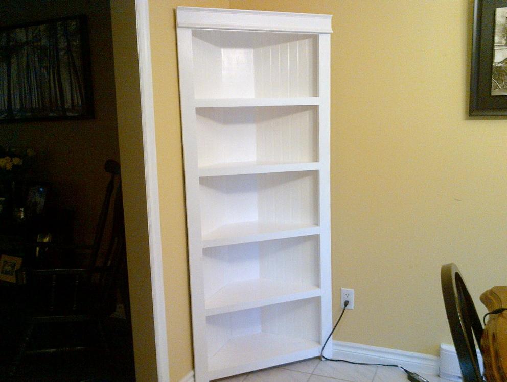 White Corner Bookcase Unit