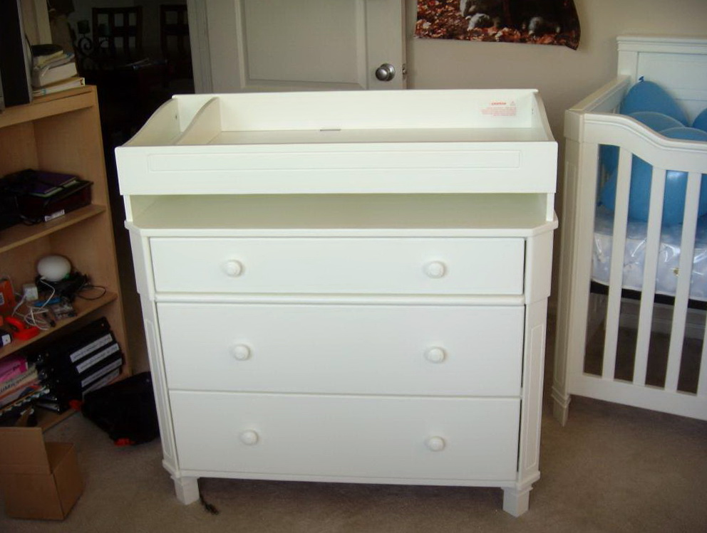 White Dresser Changing Table
