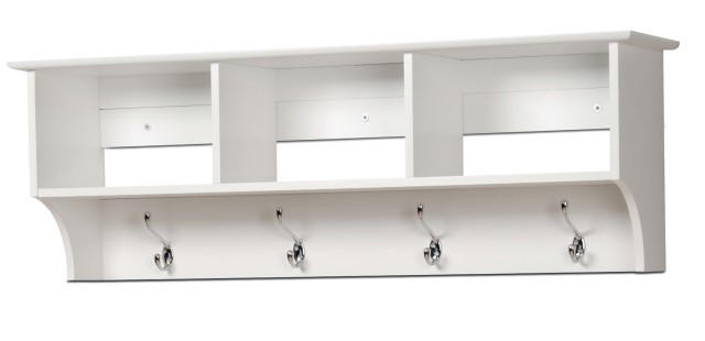 White Wall Shelves With Hooks