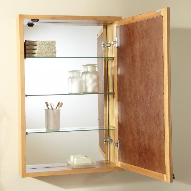 Wood Medicine Cabinet Recessed