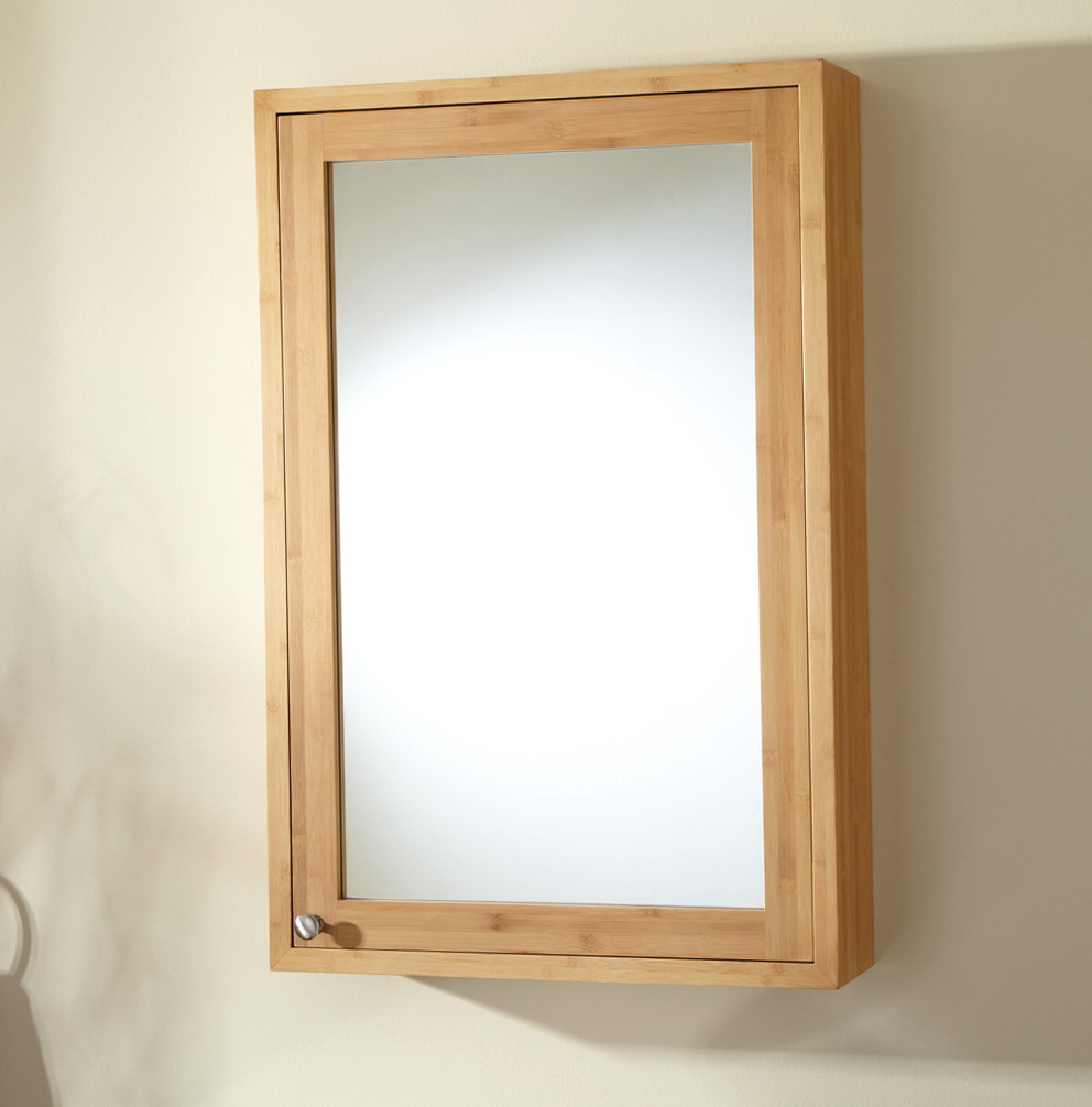 Wood Medicine Cabinet With Mirror