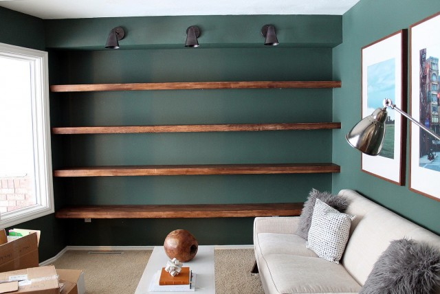 Wood Wall Shelves For Books