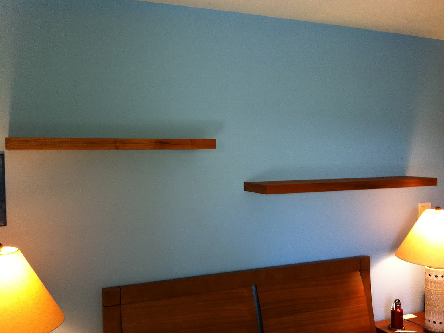 Wooden Bedroom Wall Shelves