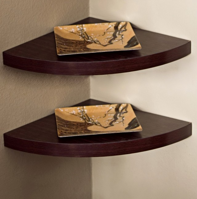 Wooden Corner Shelves Wall Mounted