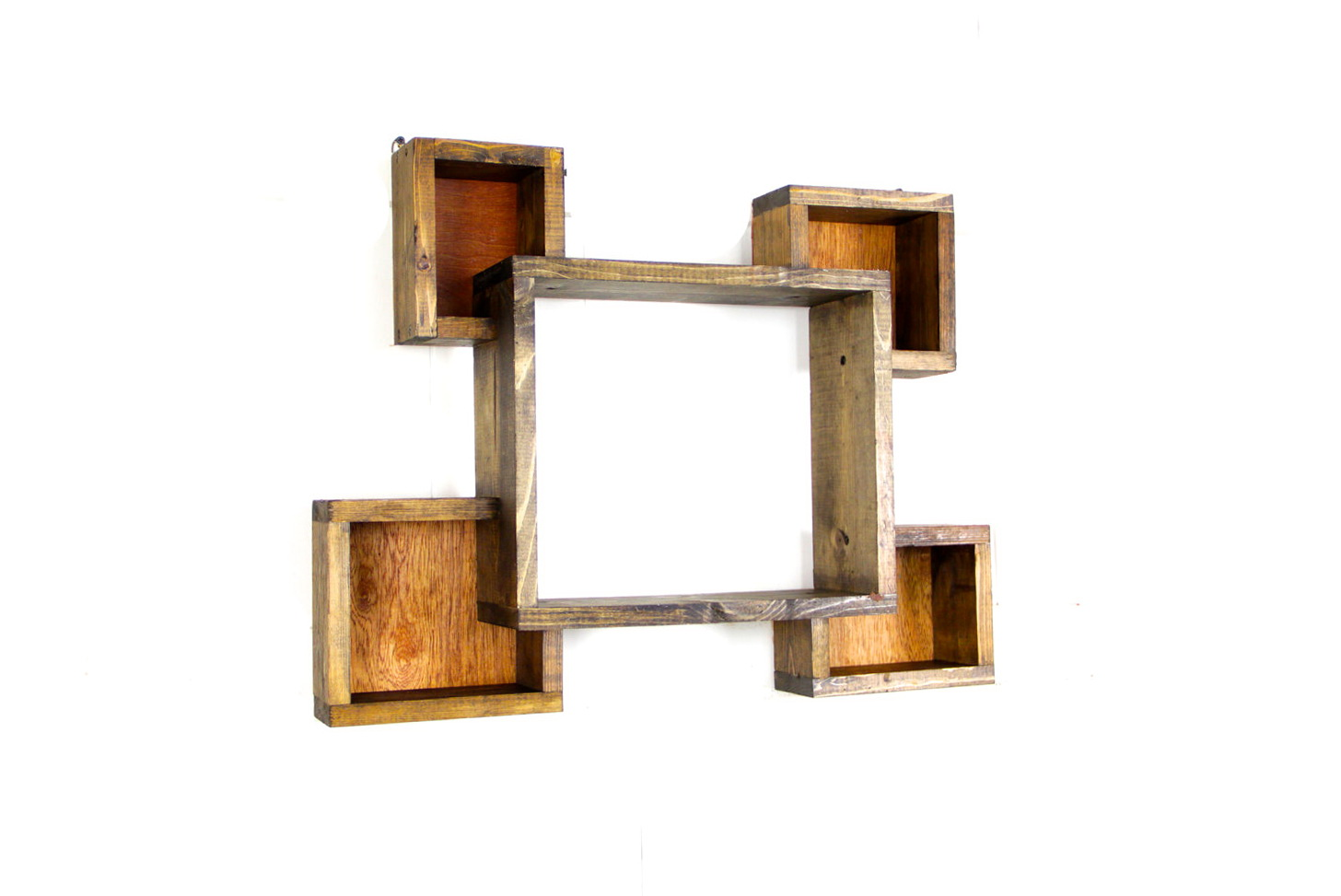 Wooden Square Wall Shelves