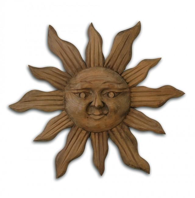 Wooden Sun Wall Art