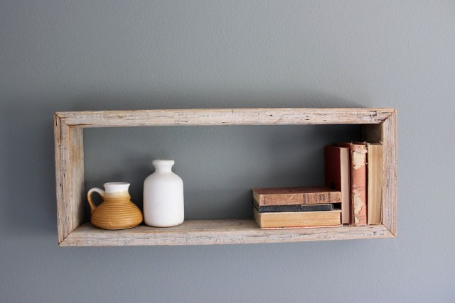 Wooden Wall Box Shelf