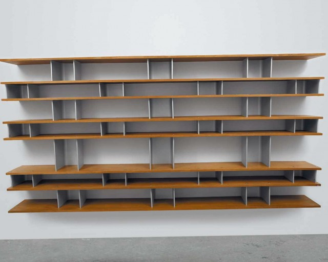 Wooden Wall Mounted Bookcase