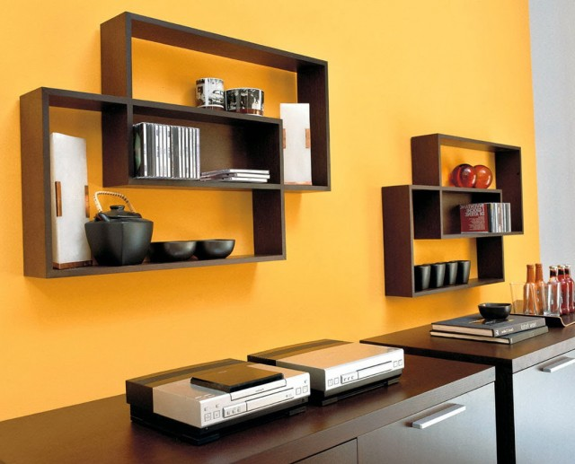 Wooden Wall Shelves Design