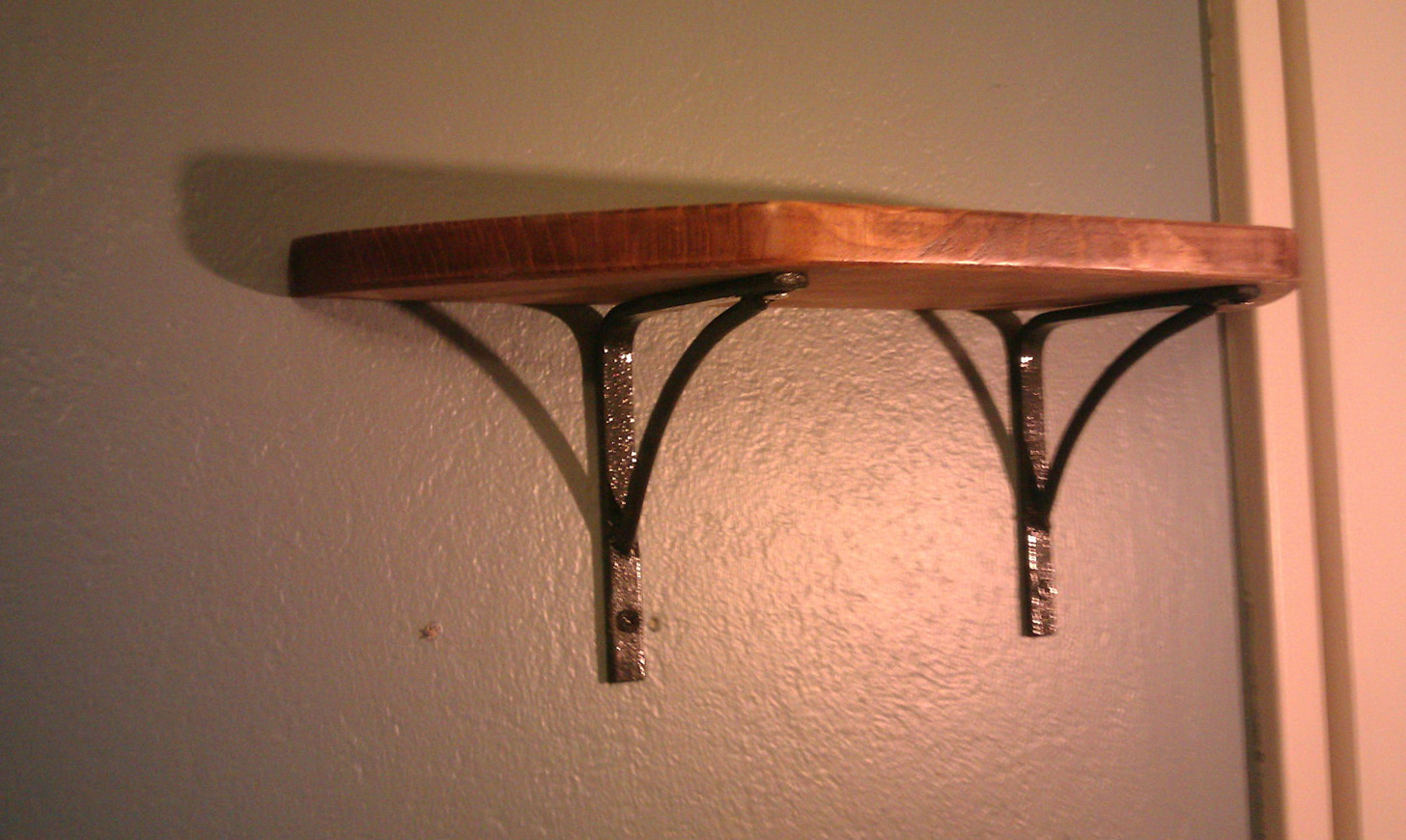 Wooden Wall Shelves With Brackets