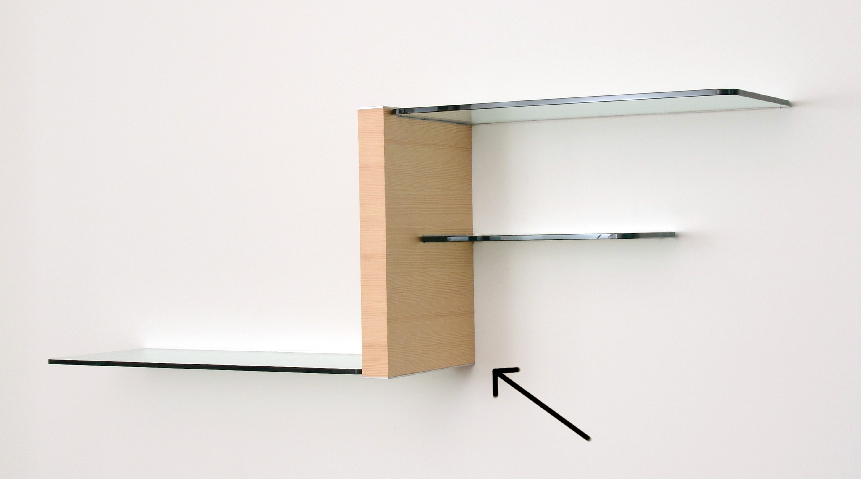 Wooden Wall Shelves With Glass