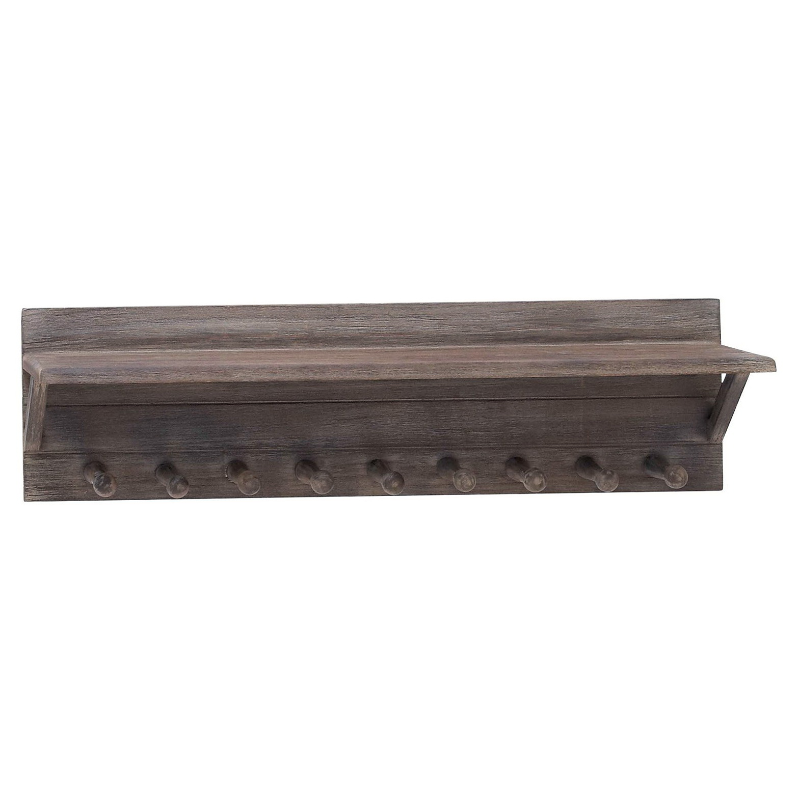 Wooden Wall Shelves With Hooks