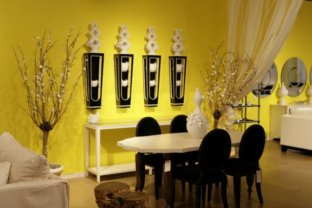 Yellow And Black Wall Art