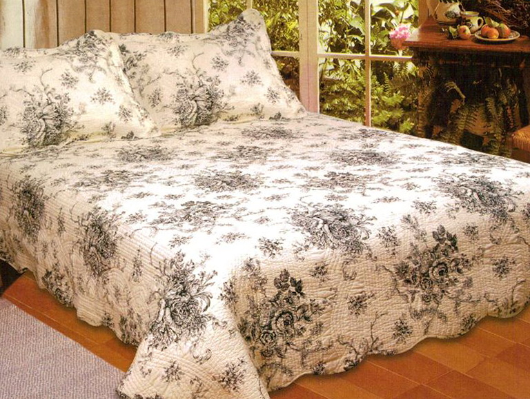 French Country Bedding Toile