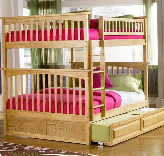 Full Over Full Bunk Beds With Stairs And Trundle
