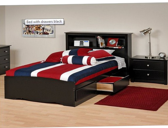 Full Size Beds With Drawers