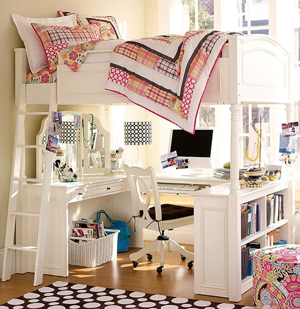 Full Size Loft Beds With Desk