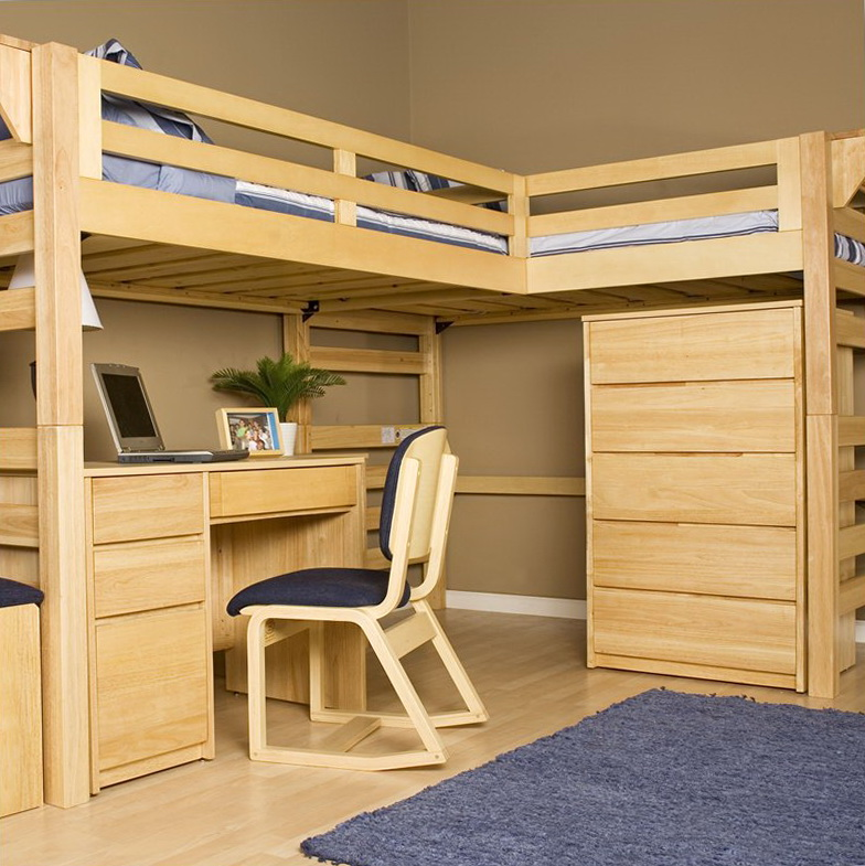 Full Size Loft Beds With Stairs