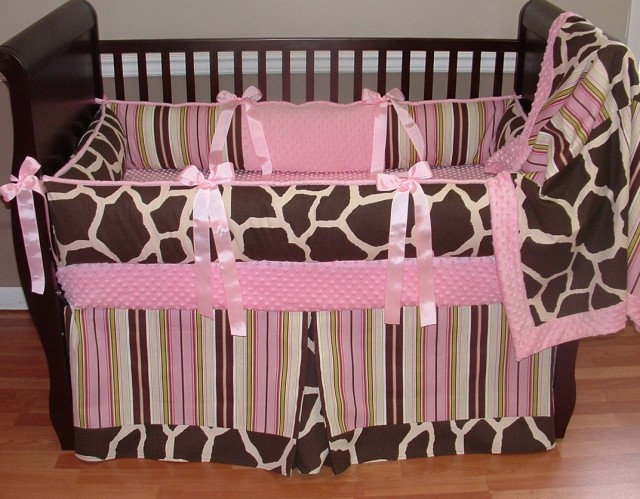 Giraffe Crib Bedding For Girls