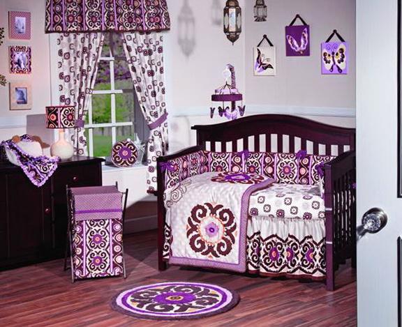 Girl Nursery Bedding Purple