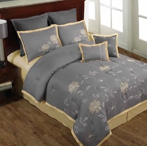 Gray And Yellow Bedding Pinterest