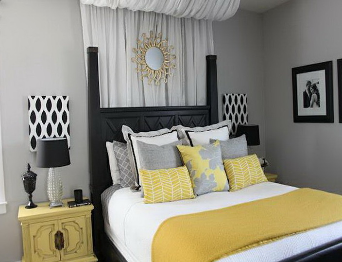 Gray And Yellow Bedding Target