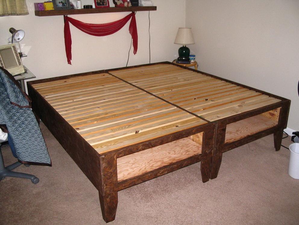 Homemade California King Bed Frame