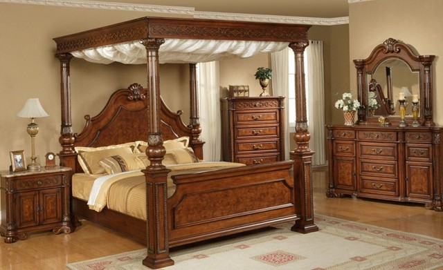 King Canopy Bed Set
