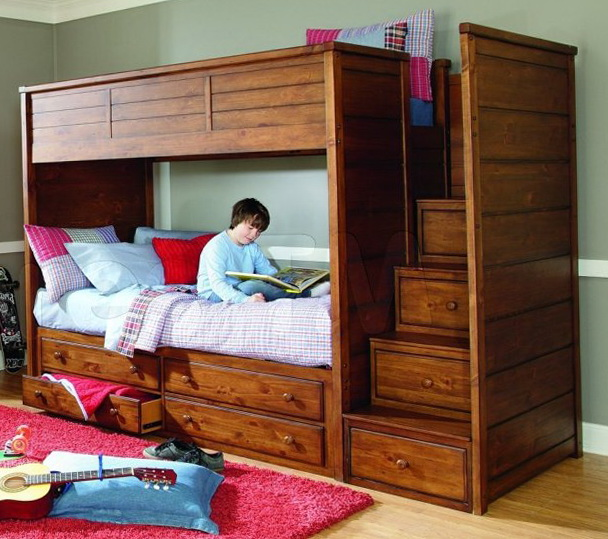 L Shaped Bunk Beds Twin Over Full
