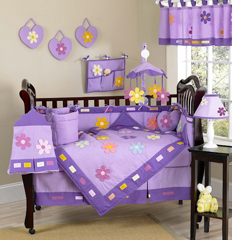 Lavender Nursery Bedding Sets