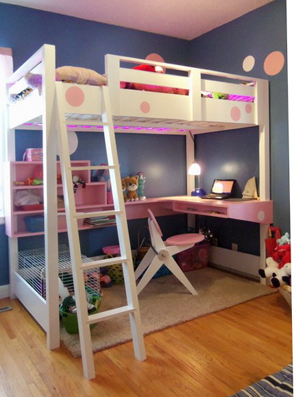 Loft Bed Plans With Desk And Shelves