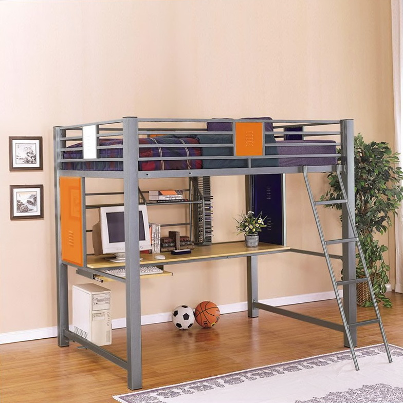 Loft Bed With Desk For Teenagers