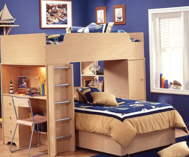 Loft Beds For Kids With Desk Underneath