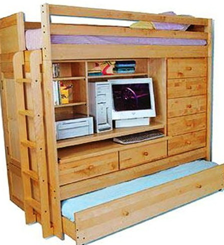 Loft Beds With Desk And Closet