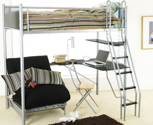 Loft Beds With Desk And Couch