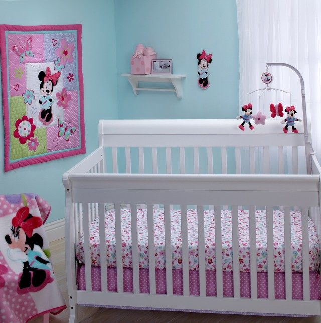 Minnie Mouse Bedding Set For Crib