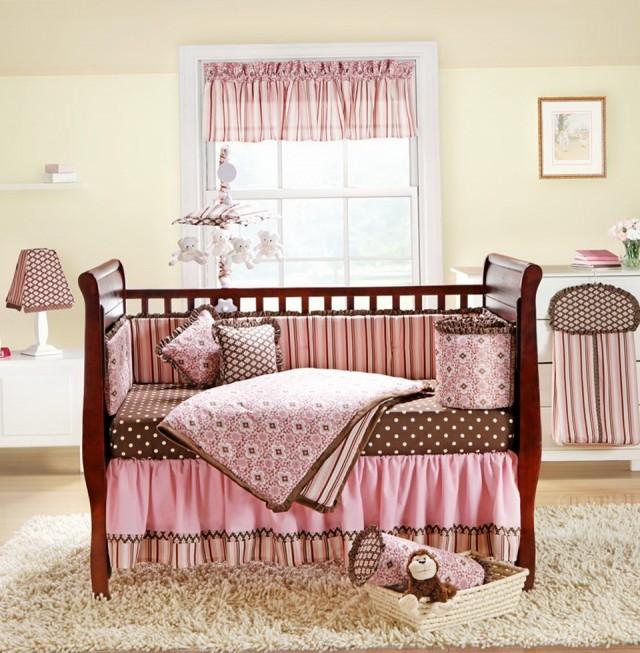 Modern Baby Girl Nursery Bedding