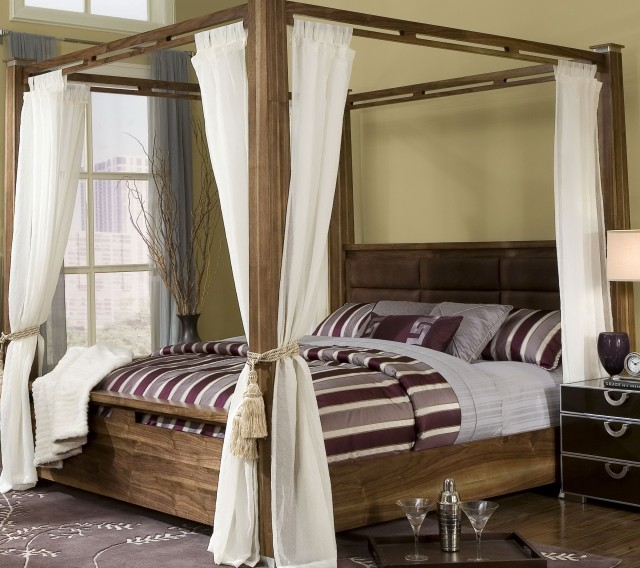 Modern King Canopy Bed