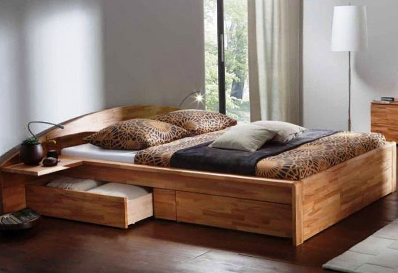 Modern Platform Bed With Drawers