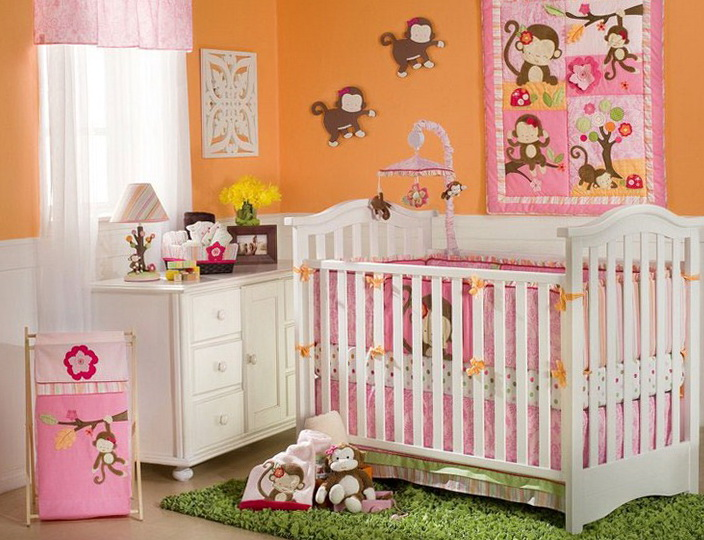 Monkey Baby Bedding For Girls