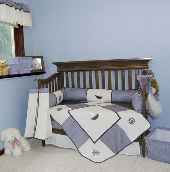 Nautical Girl Nursery Bedding