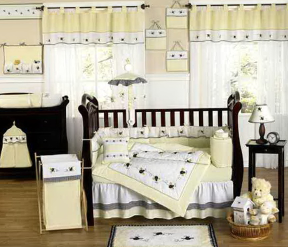 Neutral Modern Baby Bedding